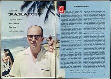 1959 TV ARTICLE~JAMES MICHENER~HAWAII~TALES OF THE SOUTH PACIFIC~PULITZER PRIZE