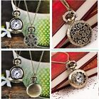 Womens Watches Vintage Retro Bronze Quartz Pocket Watch Pendant Chain Necklace