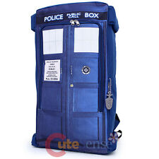 "Dr Who Blue Tardis Photo Large School Backpack Doctor Who 20""  Costume Bag"