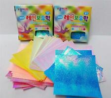 Korean RainBow Crane Shinny Color Folding Origami Paper  (2 Packs) EF11K101