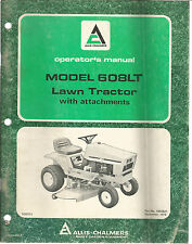 ALLIS CHALMERS MODEL 608LT LAWN TRACTOR WITH ATTACHMENTS OPERATORS MANUAL