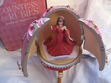 Countess of Rubies Barbie Resin Egg Music Box Royal Jewels Collection 2001 New!!