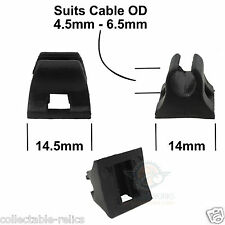 2X Brake Gear Outer Cable Guide Stick On Tie Hydraulic Cable Disc Mount Clip GPA