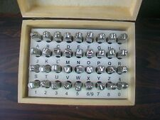 36 Pc CRV Material Number & Letter Stamp Punch Set 6MM