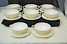 Lot of 8 Wedgwood of Etruria & Barlaston EDME Cream Soup Cups & Saucers  S6899