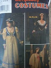 SIMPLICITY MEDIEVAL RENAISSANCE COSTUMES LACED BODICE SEWING DRESSMAKING PATTERN