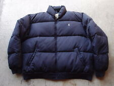 Vintage Polo Ralph Lauren Quilted Puffy Jacket Size L Navy Down