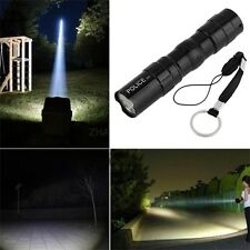 3W Waterproof Super Bright LED Flashlight Focus Torch Lamp With Hand Strap ~#