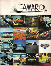 Chevrolet Camaro LT Sport 1974-75 Original USA Sales Brochure Pub. No. 3011