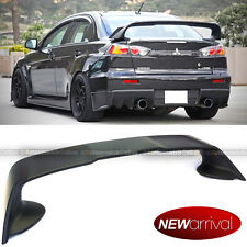 Fit 08-12 Lancer EVO Evoution 10 X ABS Unpainted Black Rear Trunk Wing Spoiler
