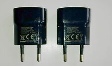 2 x Genuine 2-Pin Blackberry USB Mains Charger for 9720 Q5 Q10 Z10 Z30 Passport