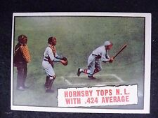 1961 TOPPS #404 ROGERS HORNSBY TOPS N.L. WITH .424 AVERAGE