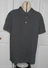 MARC ANTHONY Men's Dark Gray Sim-fit Mini Dots Polo Shirt Size M