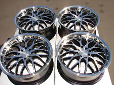 17 4x114.3 4x100 Black Rims Fits Spectra Escort Civic Lancer Accord 4 Lug Wheels