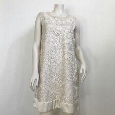 French Connection Milky White Embroidered Dress size 12 Special Occasion NWT