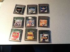 rare lot 9 jeux game boy Color  nintendo:disney,Titeuf,Zidane ....port offert!!!