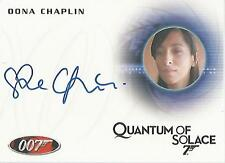"James Bond Archives 2014 - A246 Oona Chaplin ""Receptionist"" Autograph Card"