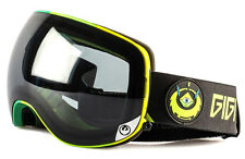 NEW 2016 Dragon X2 Goggles-Gigi Black-Dark Smoke+Yel Red Ion-SAME DAY SHIPPING!