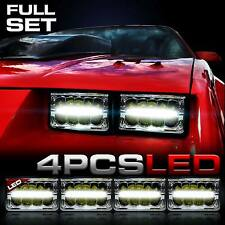 GENSSI LED Conversion 4x Headlights Headlamps for Chevy Camaro 1982-1992
