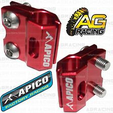 Apico Red Brake Hose Brake Line Clamp For Honda XR 400 Motard 2005 MotoX Enduro