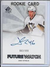 11-12 SP Authentic Joe Vitale Future Watch Rookie Auto # 259