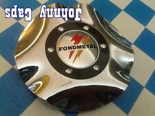 Fondmetal Wheels Chrome Center Caps #T201 Custom Wheel USED Center Cap (1)