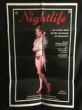 Nightlife ORG 1982 One Sheet Movie Poster Sexploitation XXX Adult Bad Girl Monet