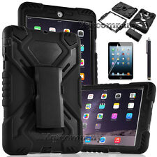 Protective Shockproof Hybrid Rugged Hard Black Case Cover Apple iPad Mini 1 2 3