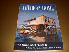 Vintage AMERICAN HOME Magazine, July, 1954, RIBBON GLASS, HELEN DORR COLLECTION!