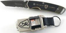 Couteau Browning Approach Combo Tanto Acier Carbone + Lampe Laser BR3240