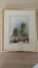 "Des Matthews ""Tree Tops"" Framed & Matted Print / Painting by Vintage"