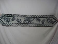 "USA Made NWT Cabbage Rose Toile 13"" x 72"" Tapestry Table Runner #3"