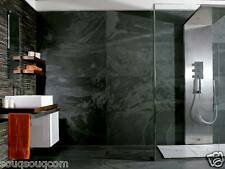 AMAZON BLACK SLATE EFFECT PORCELAIN WALL FLOOR TILE 30 X 60CM RRP £44.95