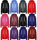 Ladies Zip Hoodies Plain Hoody Top Womens Sweatshirt Jacket Plus Size 14 - 28