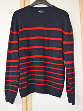 GAP Kids Boys Navy Blue & Red Crew Neck Jumper Size 13 XL BNWOT