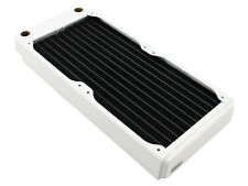 XSPC EX240 Slim Line Dual 120mm Fan Water Cooling 240mm Radiator White