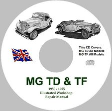 MG TD & TF Factory Workshop Service Repair Manual - 1950 - 1955 Models.