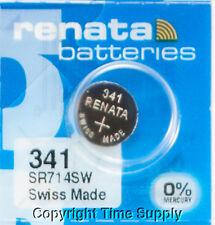 2 pc 341 Renata Watch Batteries SR714SW 341 FREE SHIP 0% MERCURY