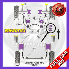 Opel Astra MK3 - Astra F (91-98) Powerflex Complete Bush Kit