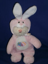 Vintage Teddy Bear as The Easter Bunny Plush Toy 9 inch Removable Costume