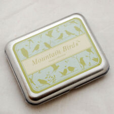 Rubber Stamps DIY tin box set-OISEAUX de montagne