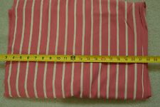 """By-the-Half-Yard, 36"""" Vintage 1940's-60's Cream on Rosy-Pink Soft Cotton, M2225"""