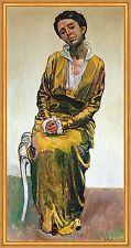 Bildnis Emma Müller Schweiz Frauenporträt Symbolismus LW Ferdinand Hodler A2 11