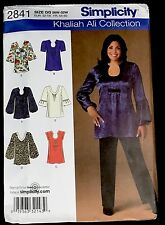Simplicity 2841 Khaliah Ali Collection Tops w/variations; Plus Size GG 26W-32W