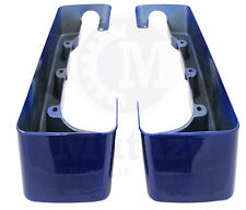 Cobalt Blue CVO StyleHard Saddlebag Extensions for Harley Touring Models