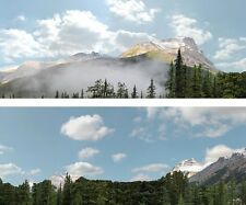 "Scenic Backdrop Rockie Mountains 260B (10' L x 24"" H) Standard HO Scale"