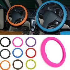 Universal Soft Silicone Texture Leather Skidproof Car Steering Wheel Cover