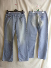 "Ladies Jeans - Criminal, size 28""W and 34""L, denim stripe, BNWT RRP £59.99 7311"