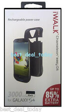 iWalk Extended Battery Power Case For Samsung Galaxy S4 3000mah Easy G4 Black
