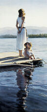 """Steve Hanks, (1949-2015), """"Sharing in Silence"""", limited edition, 28x12"""